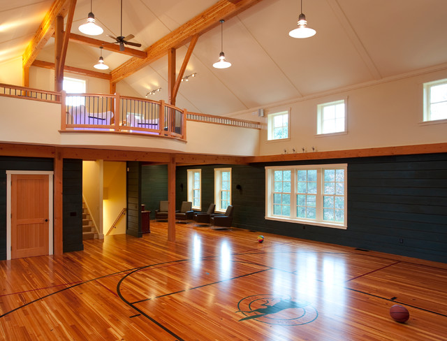 New barn - recreational building construction - Traditional - Home Gym ...: www.houzz.com/photos/4319529/New-barn-recreational-building...