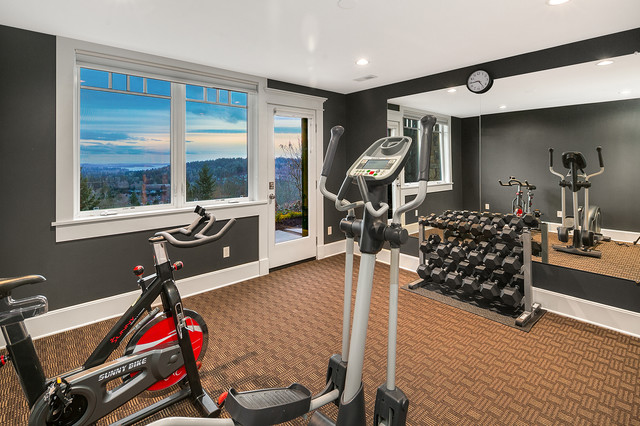Norway Hill View Estate Arts Crafts Home Gym Seattle By Rombakh Real Estate Houzz Uk