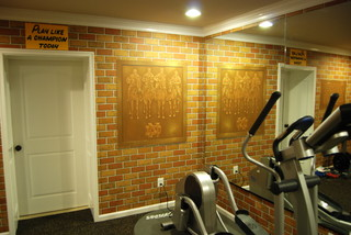 Exceptional Notre Dame Football Locker Room Mural By Tom Taylor Of Mural Art LLC In  Florida   Traditional   Home Gym   Tampa   By Mural Art LLC Wall Murals And  Fine Art Part 21