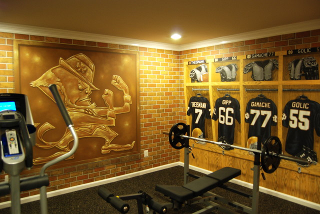 Captivating Notre Dame Football Locker Room Mural By Tom Taylor Of Mural Art LLC In  Florida Traditional Part 6