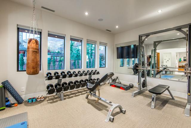 Orem estate contemporary home gym salt lake city