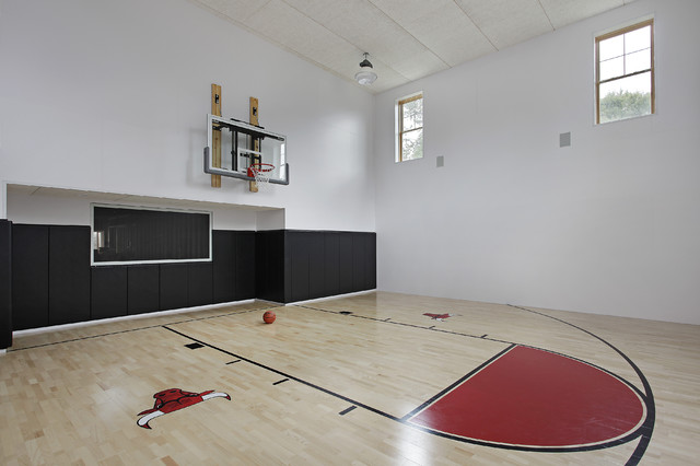 Oxford development contemporary home gym chicago for How much to build an indoor basketball court