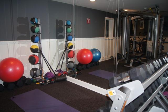 Paoli contemporary home gym philadelphia by bella