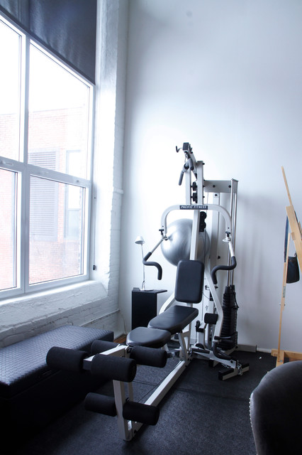 contemporary home gym by Esther Hershcovich