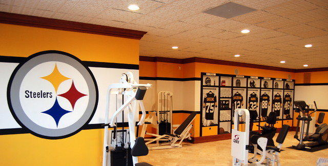 Pittsburgh steelers s locker room mural by tom taylor