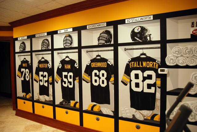 Pittsburgh Steelers 1970 S Locker Room Mural By Tom Taylor