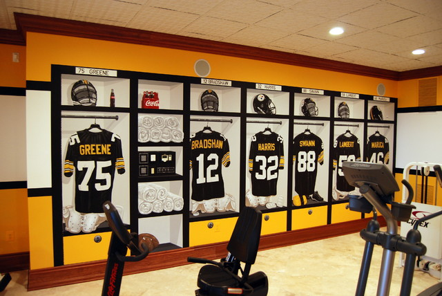 Good Pittsburgh Steelers 1970u0027s Locker Room Mural By Tom Taylor Of Wow Effects,  In VA Traditional