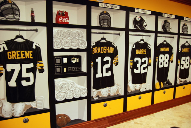 Pittsburgh Steelers 1970 S Locker Room Mural By Tom Taylor