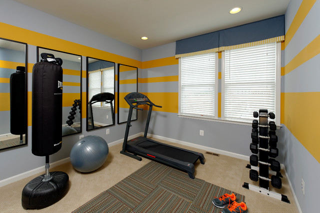 sport gym maison. Black Bedroom Furniture Sets. Home Design Ideas