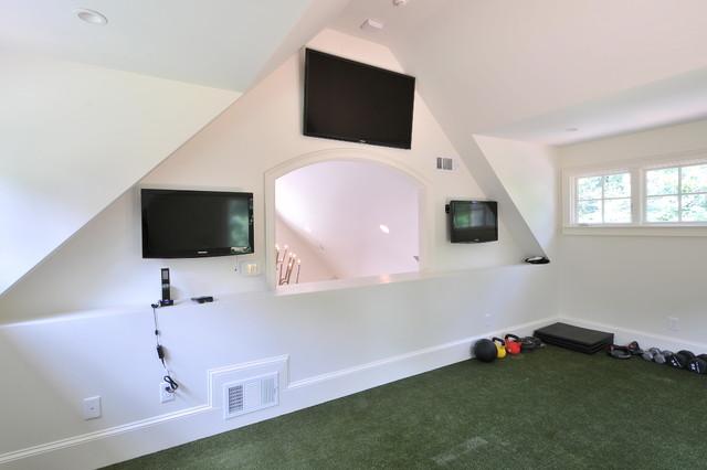 Pool House traditional-home-gym