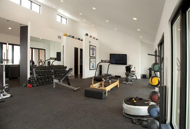 Pool House/work out facility - Moderne - Salle de Sport - Autres ...