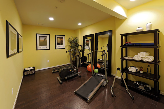 modern home gym by Laura Manning Bendik
