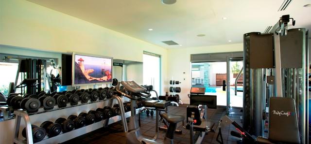 Portrush house modern home gym sydney by distinct