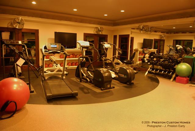 Preston Custom Homes - Preston Hollow Estate mediterranean-home-gym