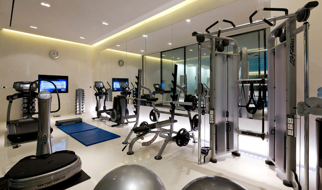 Private house london contemporary home gym