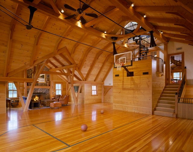 Punkatassat Farm Farmhouse Home Gym Boston By