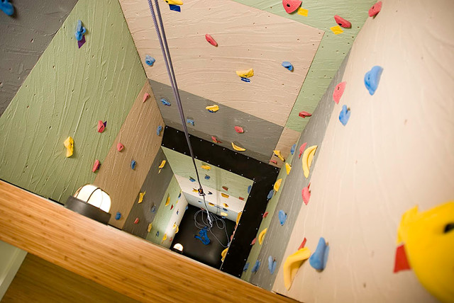 Charming Post That Related With Modern Homes Featuring A Rock Climbing Wall Design Ideas