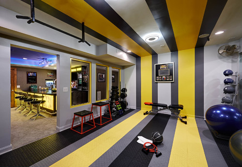 Residential Basement Remodel/ Bar and Gym