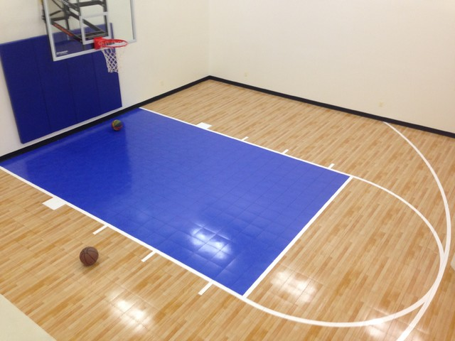 Residential Home Indoor Basketball Court Contemporary Home Gym