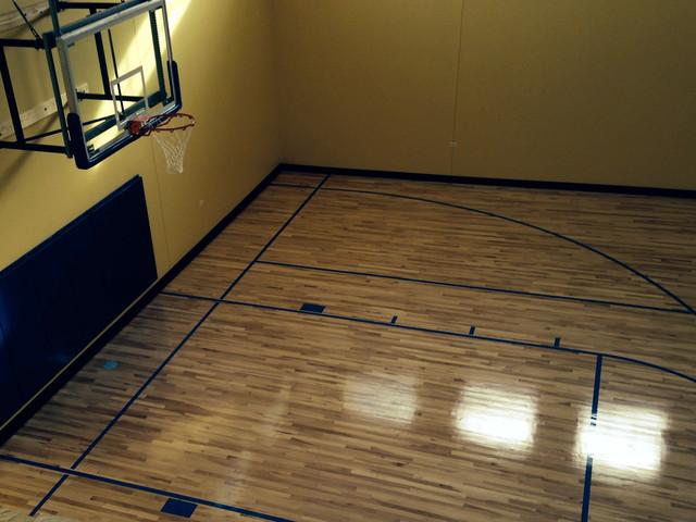 Residential wood gym flooring for Residential wood flooring