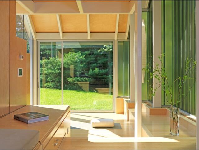 Residential Yoga Studio contemporary-home-gym