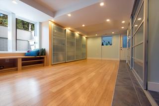 reston basement yoga and more modern fitnessraum washington d c