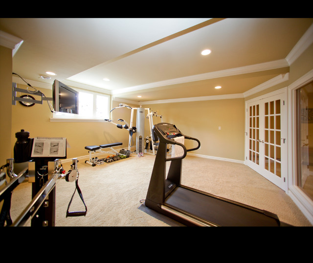 Richfield Lower Level traditional-home-gym