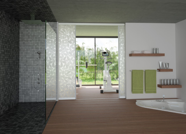 Room dividers modern home gym new york by sliding door by