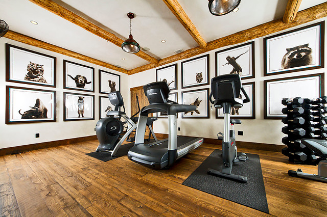 rustic home gym. Black Bedroom Furniture Sets. Home Design Ideas
