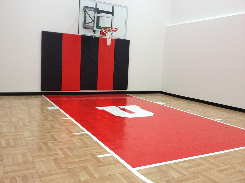 Snapsports Indoor Home Basketball Court Residential Gym Home Gym Salt Lake City By Snapsports Athletic Floors Outdoor Courts