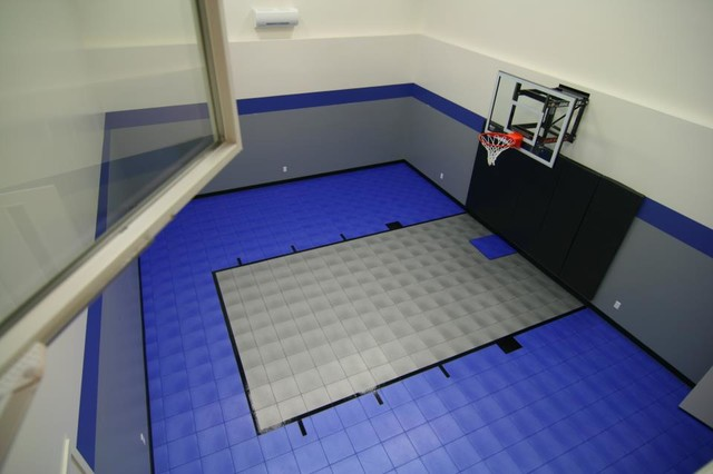 Snapsports® indoor home sport gym and basketball court traditional