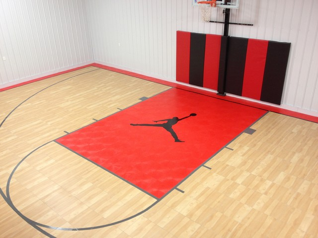 Snapsports custom logo indoor gym basketball court for Custom indoor basketball court