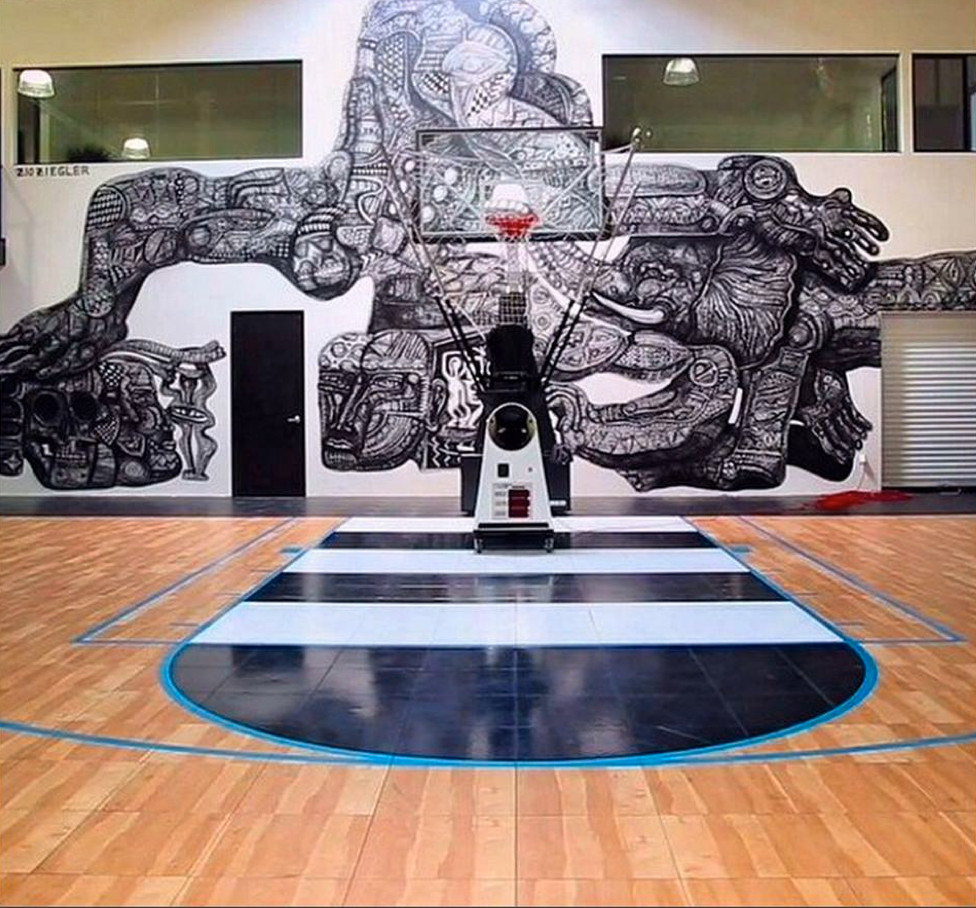 Snapsports Huge Indoor Home Basketball Court Home Gym Orange County By Snapsports Athletic Floors Outdoor Courts