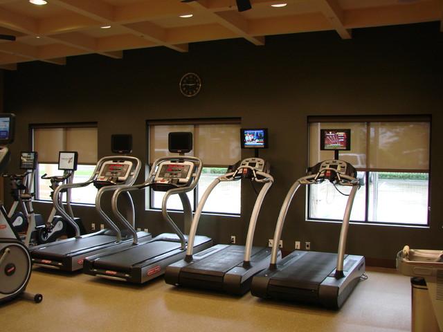 Solar Shadings modern-home-gym