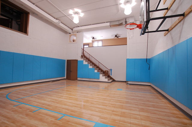 Sport court family fun eclectic home gym dc metro for Basement sport court