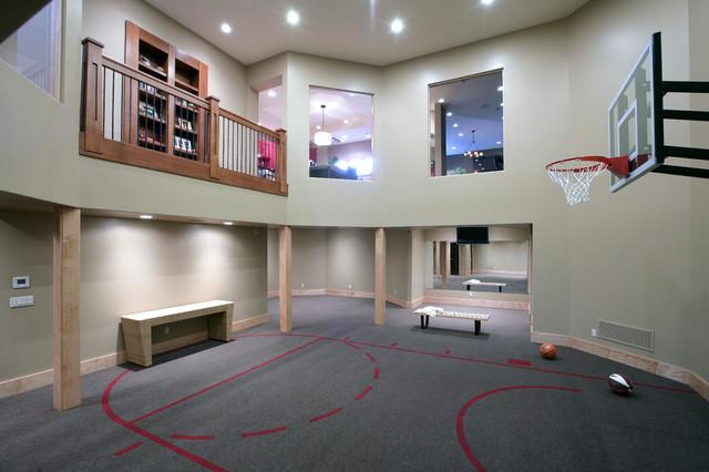 Ordinaire Indoor Sport Court   Huge Traditional Gray Floor Indoor Sport Court Idea In  Grand Rapids With