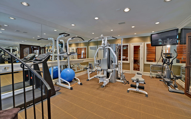 St ives country club custom homes traditional home for Luxury home gym