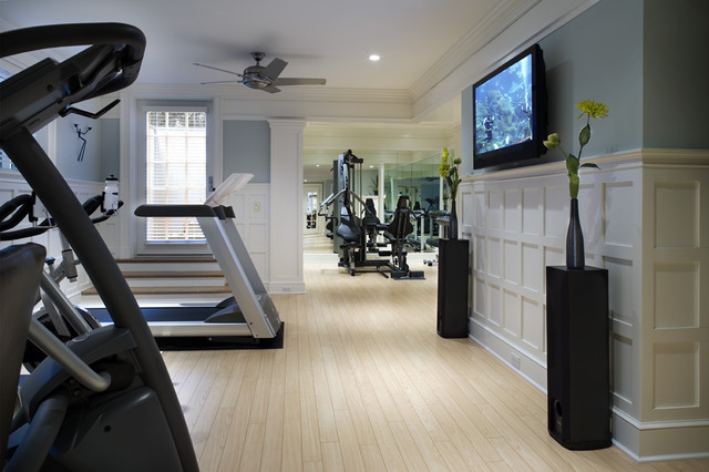 traditional home gym by Diane Burgoyne Interiors