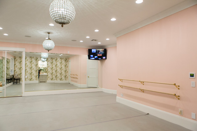 Street Of Dreams Ballet Studio Traditional Home Gym By Caitlin Wilson Design