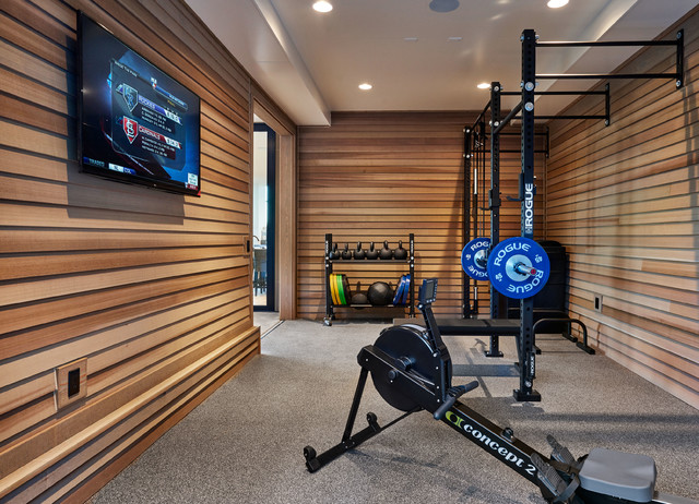 Street of Dreams - Joie de Vivre Home contemporary-home-gym