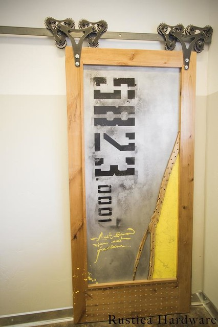 Sub Forest Barn Door Industrial Home Gym