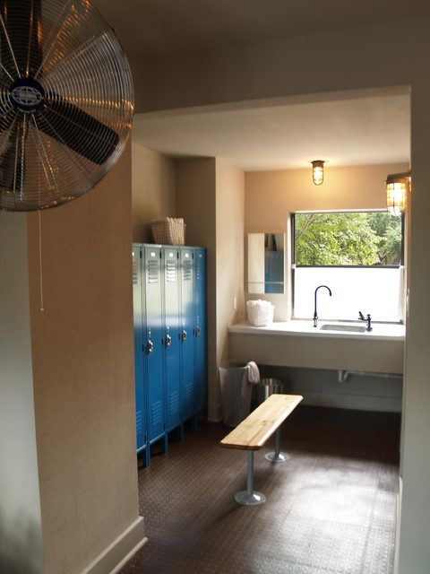 Swimming Pool Gym Dressing Room American Traditional Home