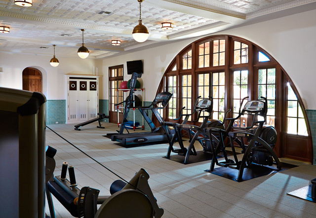The country mansion traditional home gym tampa by alvarez