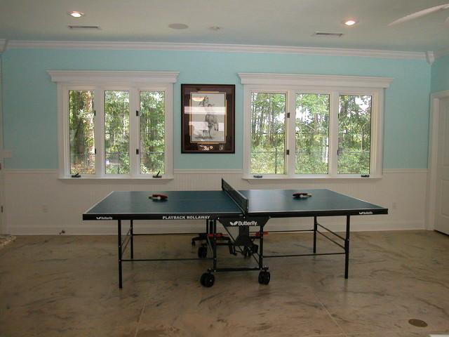 Tiffany's Poolhouse traditional-home-gym