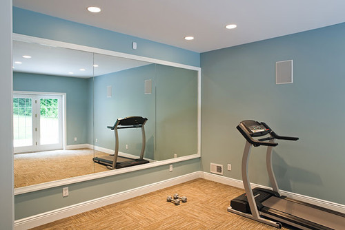 White framed mirrors bring classic look for Used gym mirrors
