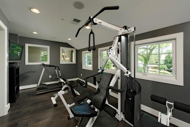 OPaL Custom Homes traditional-home-gym