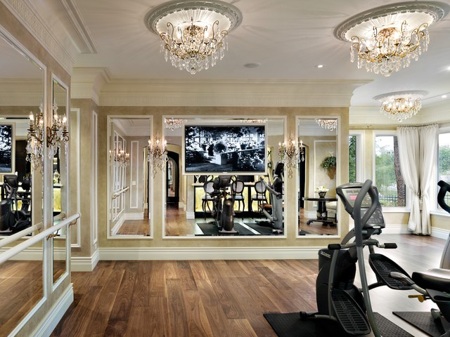 Traditional home gym for Luxury home gym