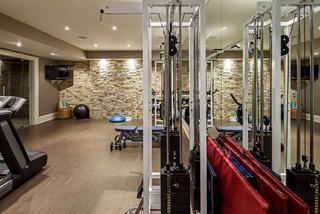 transitional toronto home  gym  transitional  home gym