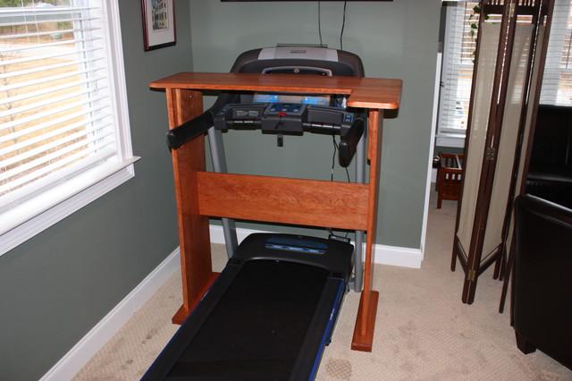 Treadmill desk contemporary home gym atlanta by