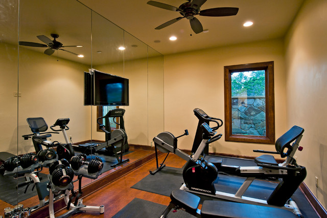 Tuscan custom home on golf course for Luxury home gym